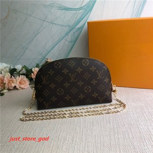 Hot three piece suit designer purse  m47535 handbag Genuine Leather Fashion Chain Shoulder Bags Handbag Mini Wallets Card Holder Purse