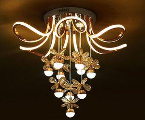 La luz de la lámpara pendiente de acrílico LED nórdica moderna de cristal LED luces de techo Lámparas de techo de la lámpara por Sala Foyer Dormitorio