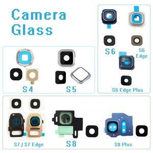 Original Back Camera Glass Ring Cover Lens For Samsung Galaxy S4 S5 S6 S7 Edge S8 Plus S6Edge S7 With Sticker Phone Repair Parts