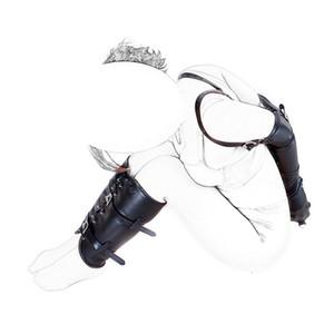 Fetisch Bondage Restraint Kits Armmanschette Beinbinder Handgelenk Knöchelgebundene Slave Zurückhaltung Set PU Leder Rollenspiel Erwachsene Geschlechtsprodukte