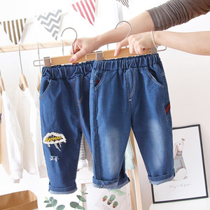Childrens Clothing for Men And Women Baby Casual Jeans Spring 2020 New 0-1-Year-Old Pants Baby Autumn Outer Wear Pants