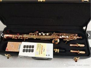 Japón Yanagisawa S901 Modelo Saxofón Soprano Recto Instrumento bemol Saxofone Fósforo Cobre superficie de alta calidad