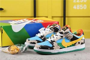 2020 SB Dunk Low Pro QS Chunky Dunky Safari Ben et Jerrys Chaussures de planche à roulettes Travis Futura vert de sport Chaussures de sport Trainers jerry