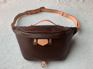 Ücretsiz Kargo Marka Tasarım Bel Çantası Siyah sığır derisi Kalp bel Çanta cüzdan Kadınlar Kırmızı bel crossbody çantası M43644 # 5188