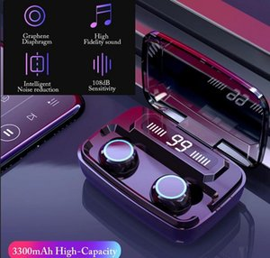 상자를 충전 M11 TWS 미니 이어폰으로 LED 디지털 디스플레이 터치 IPX7 방수 무선 블루투스 헤드폰으로 3600MAh
