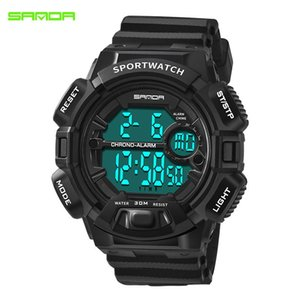 Sanda neue Uhr Boy wasserdichte elektronische Uhr Multifunktionale Lichtlaufsport Primary und Secondary School Students Wa