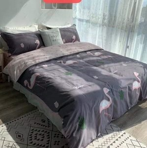 Letter Print Cotton Bedding Sets Europen Designer New Household Bedroom 100% Cotton Home Bedding Cover 200*230CM