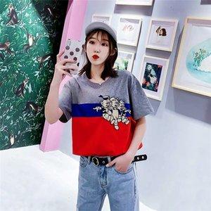 2020 yeni kadın Lüks Gömlek Yaz Marka Tshirts Kısa Kollu Erkek Üst Tees Moda Streetwear Erkek Giyim İki renk B1015254T womens