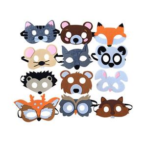 Feutre Masque Multicolore Bande Dessinée Modelage Masques Chat Ours Belle Renard Souris Patch De Haute Qualité Avec Divers Style 1ls J1