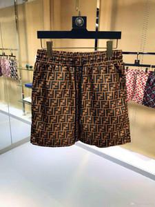 Hombres Pantalones cortos de la tela cruzada de ocio deportivo impresas de calidad del hight pantalones de la playa de baño masculino Carta vida de la resaca de los hombres de la nadada M-3XL