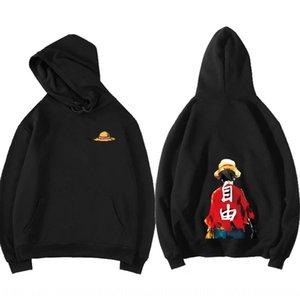 Fan Coat sweater Ge You cartoon fashion brand pirate coat Wang ins hooded velvet sweater men and women