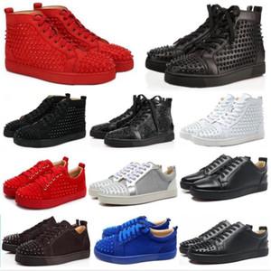 NOUVEAU Red Sneakers haut chaussure Bas Low Cut Chaussures pic Suede Chaussures pour hommes et femmes Party sneakers en cuir de cristal de mariage