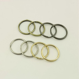 25mm Metal O Key Ring Round Line Keychain Pendant O Ring Hang Hook Buckles DIY Bag Hardware Part Accessories