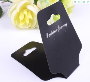 2020 hot sale Packaging Paper Jewelry packaging card Necklace Display elevator black fold plastic card 5.1cm * 12.5cm
