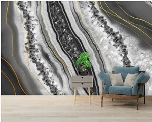 3d murals wallpaper for living room Modern light luxury abstract crystal marble wallpapers background wall