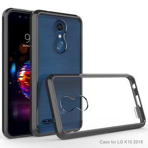 LG K10 2018 / Q7 Q7 + / G7 / LV3 / LV5 / Tribute HD 프리미엄 하이브리드 보호 투명 커버 TPE 범퍼 쉴드 안티 옐로우 안티 스크래치 MetroPCS 케이스