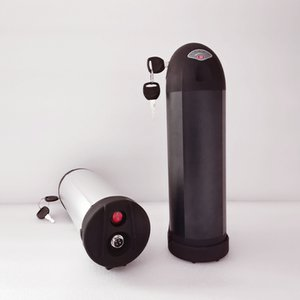 1000W 48v 18Ah lityum Bafang bbs02 siyah şişe ebike elektrikli bisiklet pil UPS FEDEX TNT vergi için pil
