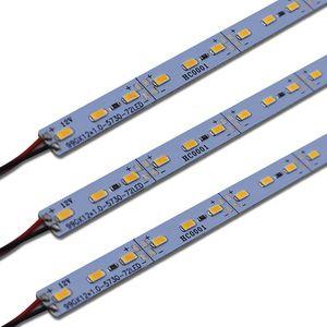SMD 5630 DC12V 72 Led 100cm LED rigides Bandes Lumières pour Bijoux marché de nuit Comptoir vitrine en aluminium Feuille Lampe