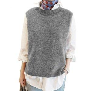 YOCALOR Vest 2020 Primavera Mulheres Vest Bonita mangas O-Neck Cabelo malha Mulheres Plus Size 2XL 3XL 4XL Veste Femme