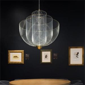 Nordic Wohnzimmer Pendelleuchte Persönlichkeit Restaurant Schlafzimmerlampe Moderne minimalistische Net Käfig Kronleuchter Beleuchtung Mode Speise Lampen