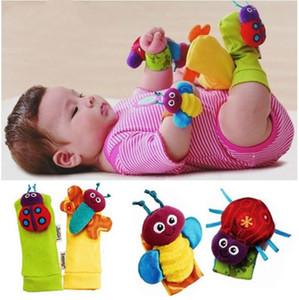Baby Rattle Socks Cute Infant Foot Finders Baby Handbells Newborn Baby Toys Cartoon Animals Rattle Wristbands Wrist Rattle & Foot Finder