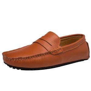 Erkekler Makosenler Casual Deri Ayakkabı loafer'lar Gerçek Deri Rahat Yumuşak Sole Yaz Sürücüler Ayakkabı Tenis Masculino