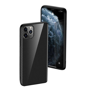 iPhone pesado TPU Phone Case à prova de choque Carbon Fiber Voltar Coverde Para 11 Pro xs Max 6 7 8 Samsung Nota 10 Huawei mate30 mate20