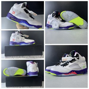 New Basketball Shoes Alternate Bel-Air 5s V yellow men shoes basketball shoes outdoor trainers top quality sneakers size 7-13