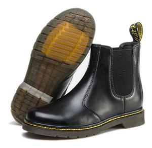 La venta caliente, cuero tobillo botas de los hombres de las mujeres del invierno de la nieve Botas Zapatos Doc DMS tobillo Botas