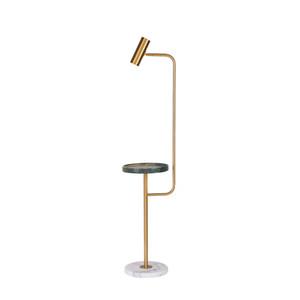 Lámpara de pie nórdica mesa de centro de mármol diseñador creativo sala de estar estudio dormitorio lámpara de pie vertical lampadaire de salon