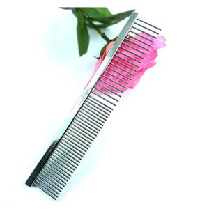 pet comb stainless steel pet dog cat pin row comb pet farm products supplies