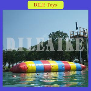 Fabrikpreis benutzerdefinierte 8x3m aufblasbaren Wasser Hüpfkissen Beutel / Wasser Katapult Blob / aufblasbares Hüpfkissen für Wasserspiel