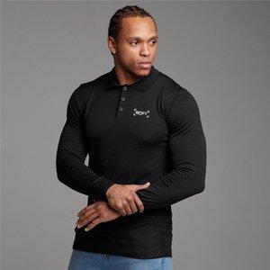 Polo Hommes collier tour Taille Plus Nouveau Bouton Automne Marque Hommes Polo manches longues Casual Male Shirt Fashion Polos