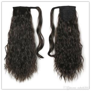 Dalgalı at kuyruğu Siyah 160g Kıvırcık Ponytails Magic Çevresinde Kadınlar Brezilyalı Wrap Uzun saçlarınızı Uzantıları ham bakire Dalgalı Hairpie Yapıştır