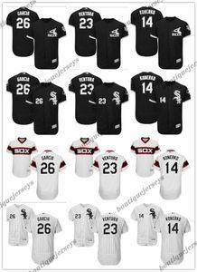 les femmes jeunes hommes personnalisés Majestic Chicago BlancSox Jersey # 23 Robin Ventura 14 Paul Konerko 26 Avisail García Accueil Baseball Maillots