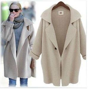 Diseñador para mujer de punto Prendas de abrigo capa del suéter del color sólido del invierno ocasional rebeca de la moda de la chaqueta femenina ropa elegante