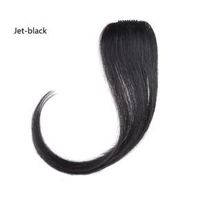 Bangs 10-12 pulgadas Natrual delantero Neat sintético Parte media Bangs Clip en extensiones de cabello Fake Fring para mujeres