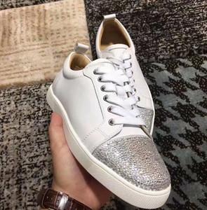 Streetwear-Hip-Hop-Pailletten Mensentwerfer Schuhe Mode Nachtclub bling Schuhe für Männer bling Patchwork beiläufige Schuhe Männer