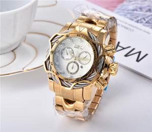 2020 новый INVICTA роскошные золотые часы Мужские спортивные часы хронограф авто дата мужские модные часы montres homme наручные часы