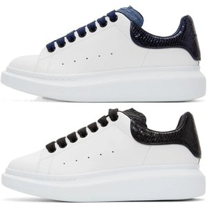 2020 Tasarımcı Erkekler Kadınlar MQ Sneaker Günlük Ayakkabılar Akıllı Platformu Eğitmenler Aydınlık Floresan Ayakkabı Yılan Geri Deri Chaussures Hommes dökün