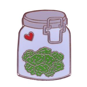 botella vegetal broche de solapa brócoli vegetariana corazón broche insignia roja joyas de la comida sana
