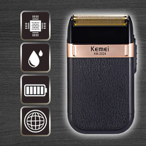 Kemei Rechargeable Cordless Shaver For Men Twin Blade Reciprocating Beard Razor Face Care Multifunction Strong Trimmer Machine XIBIZ