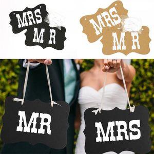 Mr Mrs Flor Puxando Para Trás Da Celebração Do Casamento Guirlanda Adereços Moda Popular Superior Qualidade Com Cores Diferentes 2 5my J1