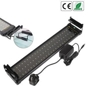Akvaryum için Uzatılabilir konsollar Beyaz ve Mavi LED'ler Fit ile 50-70cm 100-240 Akvaryum LED Aydınlatma Fish Tank Işık Lambası