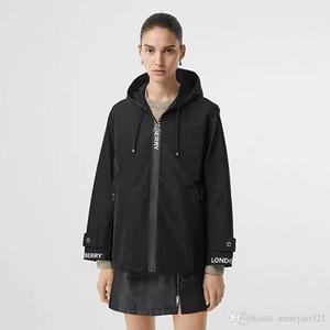 2019 Milán Pista abrigos con capucha de manga larga con paneles Marca mismo estilo Trench Coats diseñador de las mujeres abrigos 092032