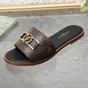 Neue Frauen flache Schuhe LOCK IT FLAT MULES Luxus-Designer-Schuhe 1A64MN hochwertiges Rindsleder Mode-Stil Größe 35-42 mit Kasten