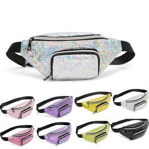 Laser Peito cintura Saco Meninas Belt Bag de lantejoulas Holographic Bloco de Fanny Feminino moda Pacote Mulheres cintura viagem Bum 2019 Novo