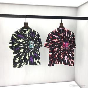 Nouveaux longues homme européen Chemise T-shirt imprimé jacquard noir à manches courtes lettre T-shirt Logo identique pour les hommes et les femmes 04