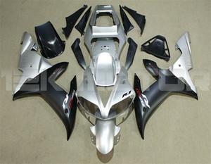 Vendas Hot New ABS motocicleta kits carenagens Ajuste para YAMAHA YZF-R1 2002 2003 R1 Carroçaria Fairing costume gratuito Prata Preto matee