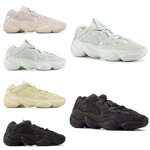 할인에! 카니 예 웨스트 (Kanye West) 사막 쥐 (500) 소금 유틸리티 블랙 디자이너 신발은 신발 남성 패션 명품 남성 여성 디자이너 샌들 신발을 실행